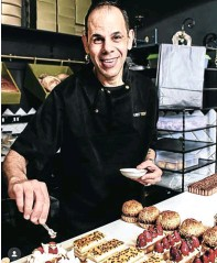 ?? Picture: Supplied ?? Teddy Zaki in his bakery Just Teddy in Hyde Park, Johannesburg.