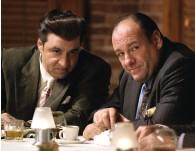 ??  ?? THE CAPO With James Gandolfini. Despite never acting before, Van Zandt was cast as Silvio Dante on The Sopranos.