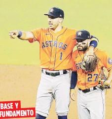 ?? AP / Archivo ?? Carlos Correa y José Altuve son dos de los principales jugadores de los Astros de Houston.