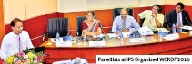 ??  ?? Panellists at IPS Organized WCRDF 2016