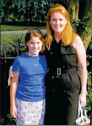 ??  ?? OLD LOOK: Eugenie with her mother, the Duchess of York, at a summer garden party seven years ago.