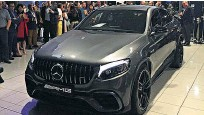 ??  ?? Mercedes-AMG unveiled the new GLC 63 coupe at the opening of its performance centre in Newmarket.