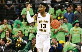 """?? KEITH COLE/CONTRIBUTED ?? Wright State freshman Malachi Smith """"just loves life,"""" teammate Bill Wampler says. It's an attitude that kept him going early in the season when playing time was scarce and coaches wondered if he would ever play any defense."""