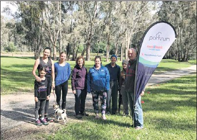??  ?? RARING TO GO: Excited to get Parkrun going in Myrtleford are (from left) Bec and Lexie Piazza, Molly Cuskelly, Maureen Ryland, Vanessa Leonard, Dave and Ruth Wallace and Tony Cuskelly.