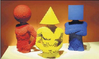 """?? Benjamin Robinson/staff Photographer ?? """"The Art of the Brick,"""" showcasing works made with Legos, continues through Aug. 18 at the Perot Museum of Nature and Science."""