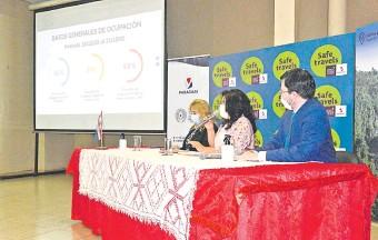 ??  ?? La ministra Sofía Montiel presentó ayer los resultados de la encuesta sobre el sector.