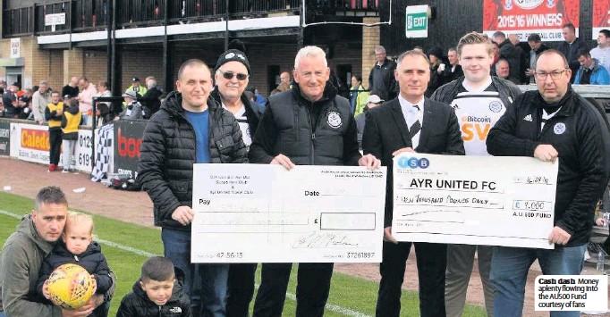 ??  ?? Cash dash Money aplenty flowing into the AU500 Fund courtesy of fans