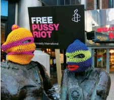 ??  ?? Revolution in the head: Free Pussy Riot protesters