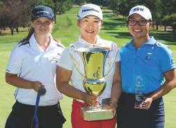 ??  ?? Jiyai with 2 Amateur winners