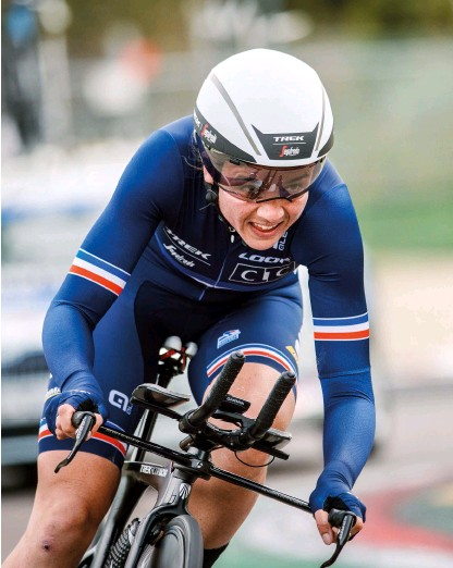 ??  ?? The four-times France national TT champion at last year's Imola Worlds