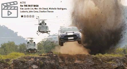 ?? FOTO ISOPIX ?? Niet alleen auto's maar ook afgeprijsde oneliners vliegen je om de oren in The Fast Saga.