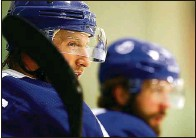 ?? DIRK SHADD Times | ?? The pairing of Steven Stamkos, front, and Nikita Kucherov, back, remind many of the pairing of Stamkos and Marty St. Louis.
