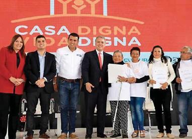 ??  ?? El lanzamiento del nuevo programa de viviendas del gobierno fue realizado en Bogotá.
