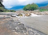 ??  ?? En esta parte del río Pamplonita, en la vereda La Garita, de Los Patios, ocurrió el hecho, la tarde del lunes.