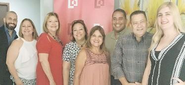 ??  ?? Desde la izquierda: Robin Ortiz, Betsy Pino, Belkys Pino, Nilda Batiz, Ivy Ruiz, Alfredo Román, Ramón Mejías y Belkyan Duarte.