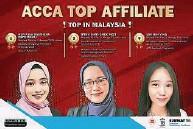 ??  ?? 诺艾达(左起)、依菲雅及林欣莹(人名译音)在ACCA考试中表现卓越。