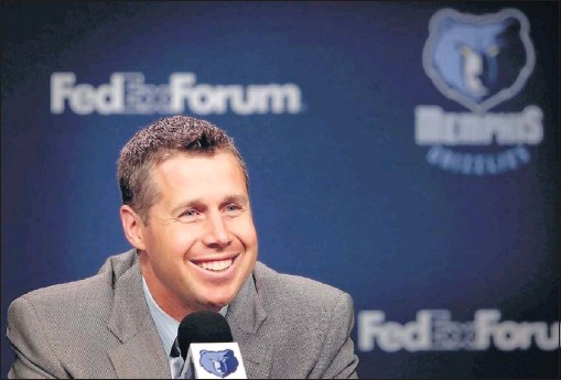 ?? JIM WEBER/THE COMMERCIAL APPEAL ?? New Grizzlies head coach Dave Joerger brings plenty of experience, including championships, to the team. Still, he realizes he'll have to make adjustments as he transitions from an assistant coach to the top spot.