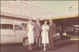 ?? PHOTOS COURTESY OF DR. SELDEN BEEBE ?? Dr. Selden C. Beebe met his future wife, Sheri Gilbert, at Stanford. She had been a patient of Beebe's father, who also was a doctor. They eloped and married in Las Vegas in 1958.