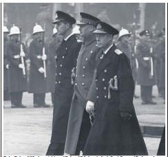 ??  ?? Duty: Duke of Windsor, right, and Duke of Edinburgh, far left, at George VI'S funeral