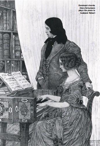 ??  ?? Dominant chords: Clara Schumann plays the piano to husband Robert