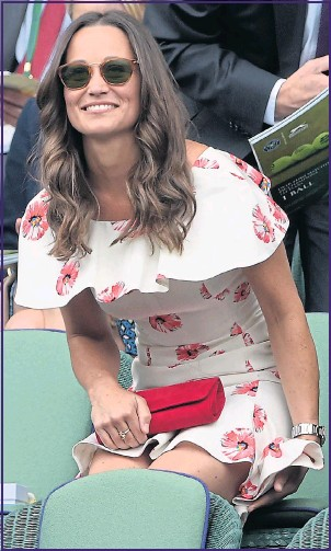 ??  ?? Pippa Middleton graced Centre Court in a pretty floral printed summer dress