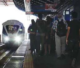 ??  ?? 1. KL Sentral to Kuala Lumpur – RM1.20 (+ 20 sen) 2. KL Sentral to Mid Valley – RM1.80 (+ 80 sen) 3. KL Sentral to Kepong – RM2.40 (+ RM1.10) 4. KL Sentral to Bandar Tasik Selatan – RM2.40 (+ RM1.40) An oncoming LRT train arrives at the Bangsar LRT...
