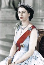 ?? Apic via Getty Images ?? Crowned at 25: Queen Elizabeth II acceded to the throne after the1952 death of George VI.