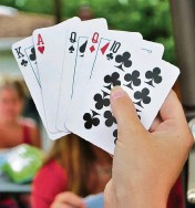 ?? Dreamstime/TNS ?? A new study shows that playing competitive card games can help stave off dementia.