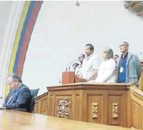?? CORTESÍA PRENSA AN ?? Mauro Zambrano, dirigente sindical, alertó que aplican la justicia militar a quienes exigen reivindicaciones laborales