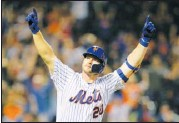 ?? ASSOCIATED PRESS FILE ?? New York Mets first baseman Pete Alonso led the majors with 53 homers, one better than Yankees slugger Aaron Judge's rookie record from 2017.