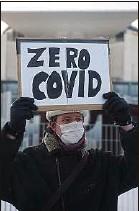 ??  ?? Un manifestant favorable au «zéro Covid» en Allemagne, le 10 février.