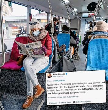?? 20MIN/MARVIN ANCIAN ?? Noch gilt die Maskenpflicht auch für Geimpfte, viele fordern aber schon ihre Abschaffung.
