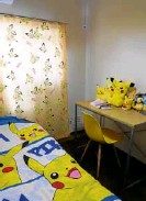 ??  ?? MyPokemon-themed room with seven Pikachus. #AirBnBfind