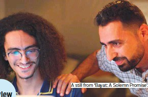 ?? Photos by Gulf News ARchive and supplied ?? A still from 'Bayat: A Solemn Promise'.