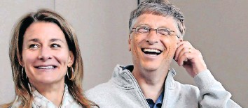 ??   ?? MELINDA and Bill Gates announced last week that they were getting divorced. AP