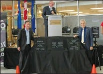 ab9541ac4de At the official opening of the expanded Family Leisure Centre on Saturday a  plaque was unveiled by Mayor Ted Clugston (left) and Medicine Hat MLA Bob  Wanner ...