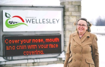 ?? Sean Heeger ?? Theresa Bisch's last day at the Wellesley Township office is tomorrow (Friday)