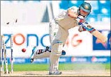 ?? AFP PHOTO ?? Chris Rogers has problems picking colours.