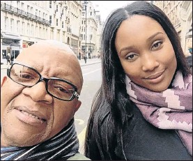 ??  ?? GLOBETROTTING: Lebo M and Zoe in happier times during the Hans Zimmer tour in Europe