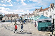 ??  ?? i Last month Malton hosted its first monthly food market of the year