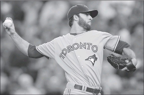 ?? — REUTERS ?? Toronto Blue Jays pitcher Brandon Morrow delivers against the Los Angeles Angels Thursday in Anaheim, Calif.