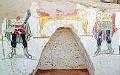 ??  ?? Il dipinto scoperto a Dakhla (foto Ap)