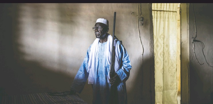 ?? PHOTOS : JOHN WESSELS / THE WASHINGTON POST ?? Biram Senghor has been told that he looks like his father, M'bap Senghor, who was a millet farmer before he fought for the French against the Nazis in the Second World War.