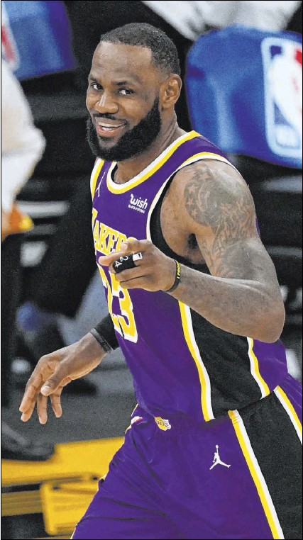 ?? Mark J. Terrill The Associated Press ?? Lakers star LeBron James responded to criticism from Serie A soccer player Zlatan Ibrahimovic, who said that athletes shouldn't speak out on social issues and just stick to the sports they're playing.