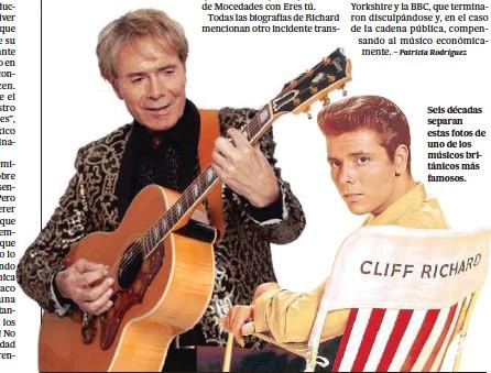 ??  ?? Seis décadas separan estas fotos de uno de los músicos británicos más famosos.