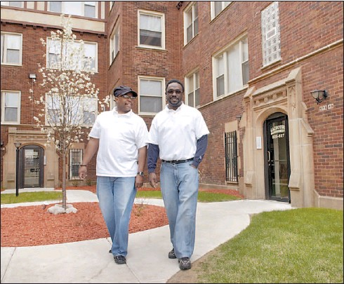 ??  ?? Jeff Coleman (right, with his brother, Andre) knows he's rich on paper, but he also knows how much hard work it took to get there. RICH HEIN~SUN-TIMES PHOTOS