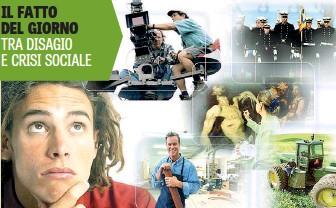 ??  ?? Il 19,9% dei giovani italiani (15-24 anni) non ha e non cerca un lavoro, né segue un percorso di studi