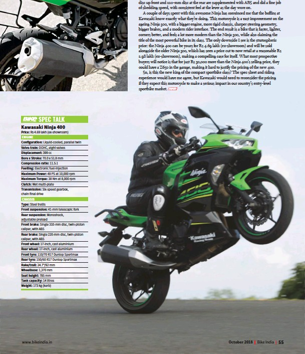 Pressreader Bike India 2018 10 10 Kawasaki Ninja 400