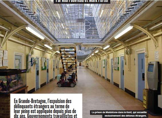 ??  ?? La prison de Maidstone dans le Kent, qui accueille exclusivement des détenus étrangers.