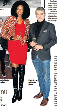 ??  ?? Ravi Naidoo and his wife Dr Leshni Shah at the Amer­i­can Ex­press Awards in Con­stan­tia, Cape Town. From left, Si­mon Wid­di­son, man­ager of the Short­mar­ket Club, chef Luke Dale-Roberts, TV pre­sen­ter Tanya Nefdt and chef Wes­ley Ran­dles. Mala Bryan & Gior­gio Nava.